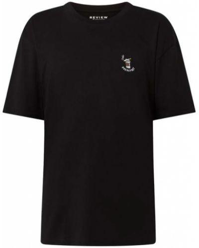 Czarna t-shirt bawełniana Review