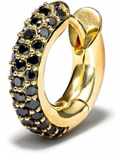 Czarne złote kolczyki koła z diamentem Spinelli Kilcollin