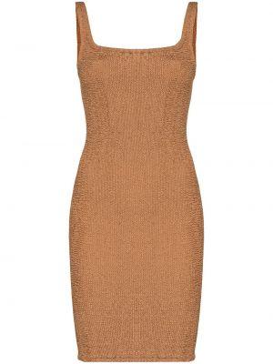 Brązowa sukienka bez rękawów Hunza G