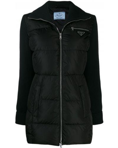 Куртка черная на молнии Prada