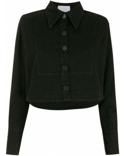 Черная джинсовая джинсовая куртка Andrea Bogosian