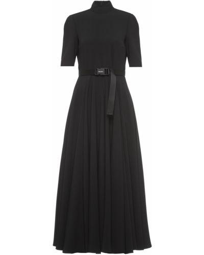 Черное платье из вискозы Prada