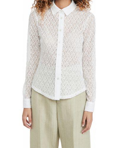 Рубашка с декольте - белая Rachel Comey