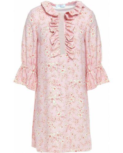 Różowa sukienka mini z printem Vivetta