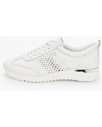 Кожаные белые кроссовки Caprice