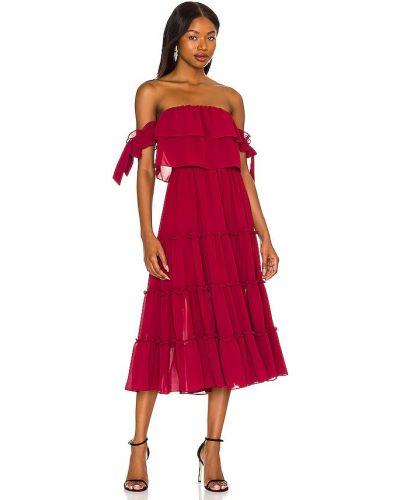 Шифоновое платье - бордовое Misa Los Angeles