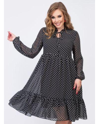 Шифоновое платье каскадное с воротником на торжество Diolche
