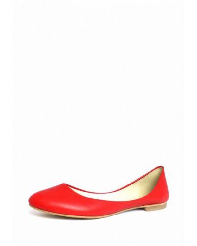 Красные балетки кожаные Blizzarini