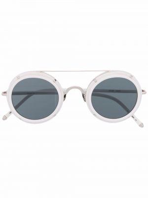 Białe okulary srebrne Matsuda