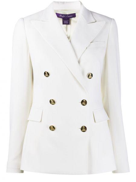 С рукавами белая куртка двубортная Ralph Lauren Collection