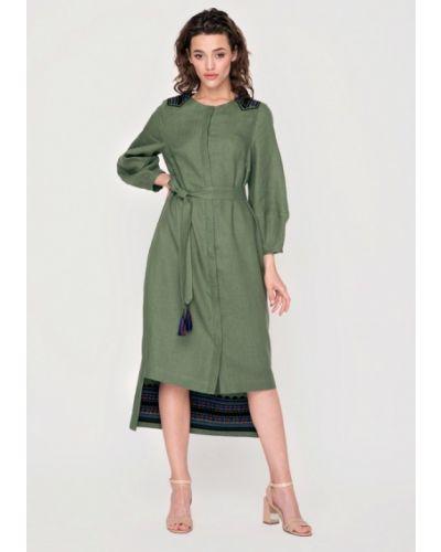 Платье миди весеннее зеленый Garmoniya