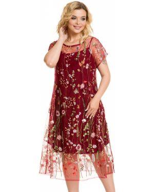 Вечернее платье с вышивкой на бретелях Novita