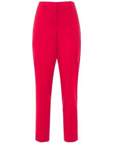 Prosto wełniany przycięte spodnie z kieszeniami Givenchy