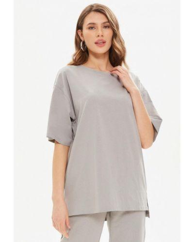 Серая футболка с короткими рукавами Moru