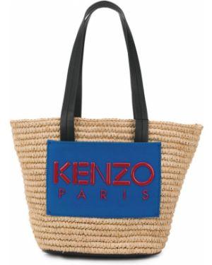 Соломенная сумка-тоут Kenzo