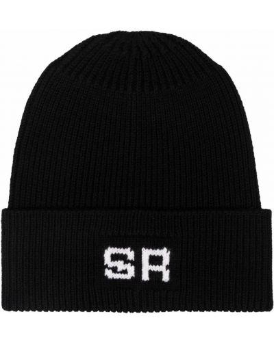 Czarna czapka prążkowana Sonia Rykiel