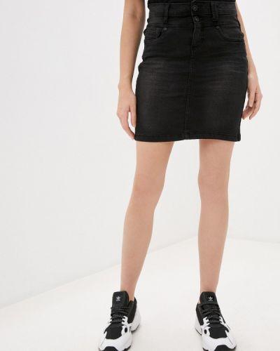 Серая джинсовая юбка Sublevel