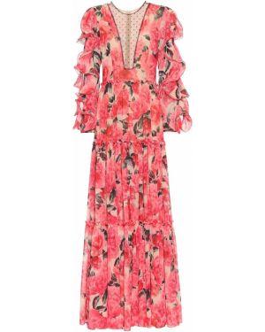 Вечернее платье с цветочным принтом Costarellos