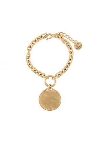 Золотистый желтый браслет квадратный на крючках Goossens