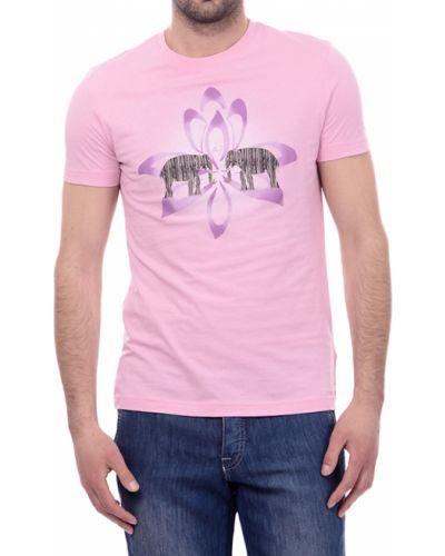 Розовая футболка хлопковая Armani Jeans