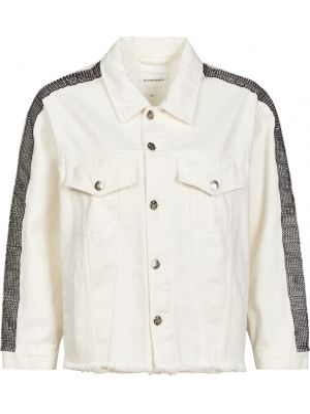 Хлопковая белая куртка на пуговицах Silvian Heach
