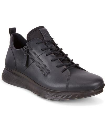 Кроссовки черные на молнии Ecco