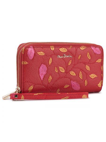 Skórzany portfel czerwony Pierre Cardin