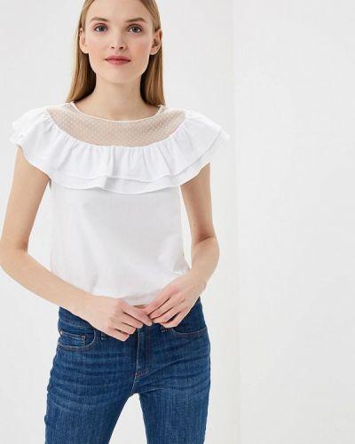 Белая блузка с рюшами Love Republic