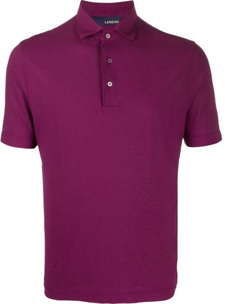 Koszula krótkie z krótkim rękawem karmazynowy prosto Lardini