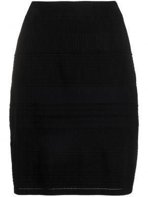 Вязаная прямая черная юбка Steffen Schraut