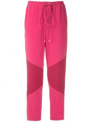 Спортивные брюки из полиэстера - розовые Olympiah