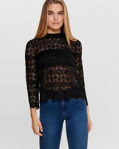 Черная кружевная блузка Jacqueline De Yong