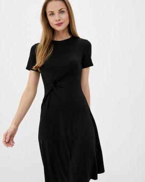 Платье футболка черное Sela