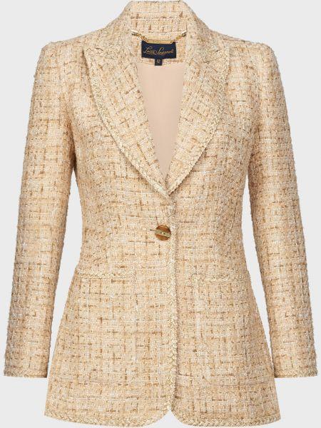 Пиджак на пуговицах из вискозы с подкладкой Luisa Spagnoli