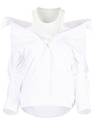 Biała koszula z długimi rękawami - biała Alexander Wang