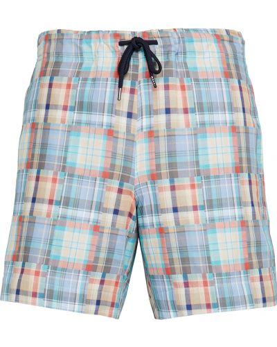 Хлопковые шорты в клетку с карманами Ps Paul Smith