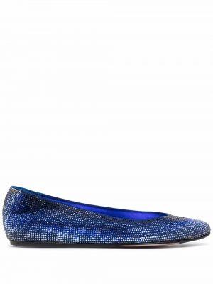 Кожаные монки - синие Le Silla