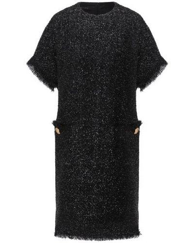 Шерстяное платье - черное Escada