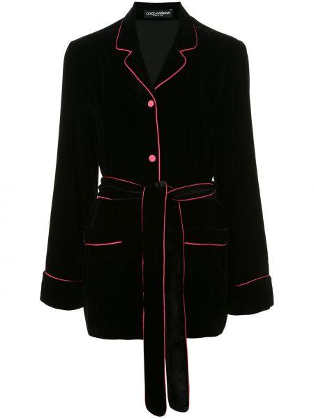 Куртка черная бархатная Dolce & Gabbana
