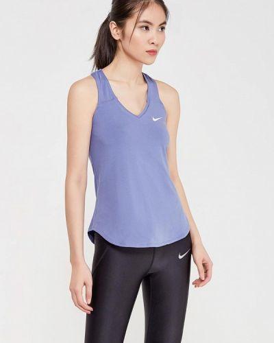 Синяя майка спортивная Nike