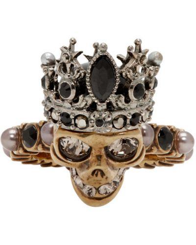 Кольцо из серебра с жемчугом Alexander Mcqueen