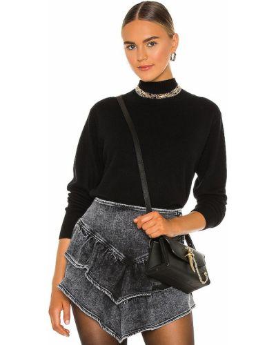 Ватный черный шерстяной свитер 360cashmere