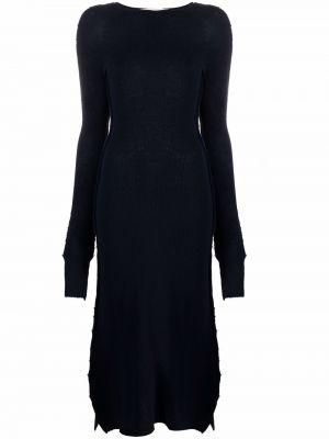 Платье миди с длинными рукавами - синее Marni