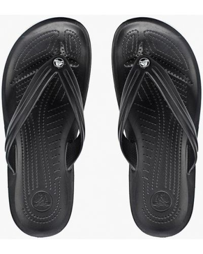 Черные шлепанцы Crocs
