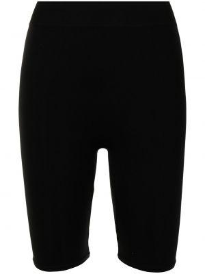 С завышенной талией трикотажные черные шорты Simon Miller
