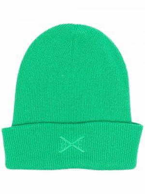 Zielona czapka z haftem Barrie