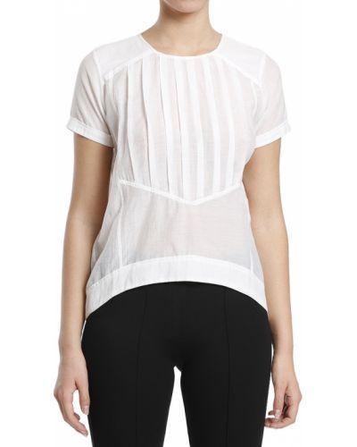 Шелковая футболка - белая Karl Lagerfeld