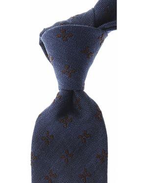 Niebieski krawat z jedwabiu Belvest