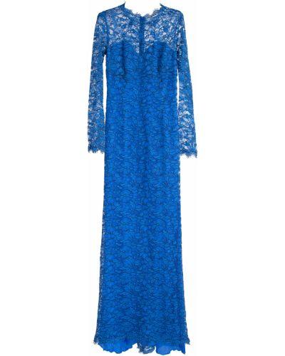 Вечернее платье с цветочным принтом макси Ermanno Scervino
