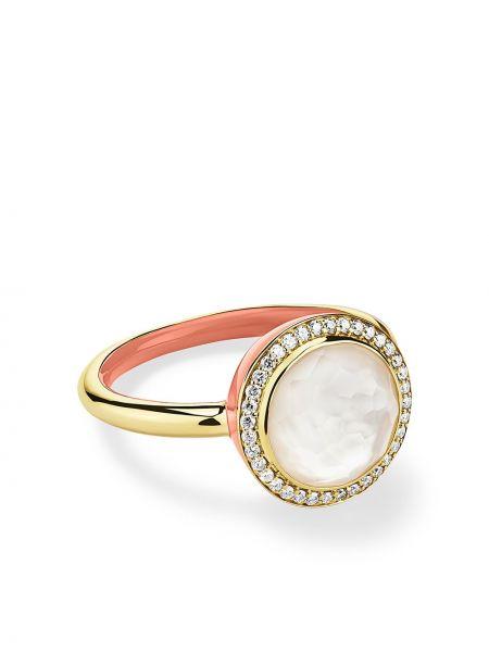 Żółty pierścionek perły Ippolita